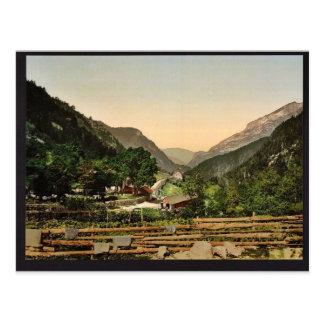 Gabas, Pyrenees, France vintage Photochrom Postcard