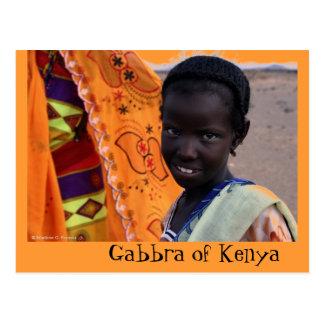 Gabbra tribal girl of Kenya Postcard