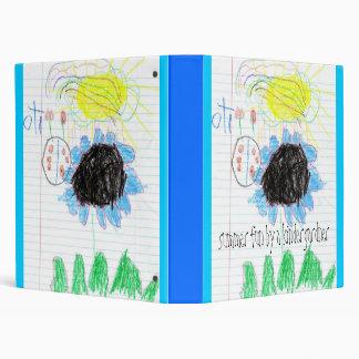 Gabby drawing-3029, summer fun by a kindergardner 3 ring binder