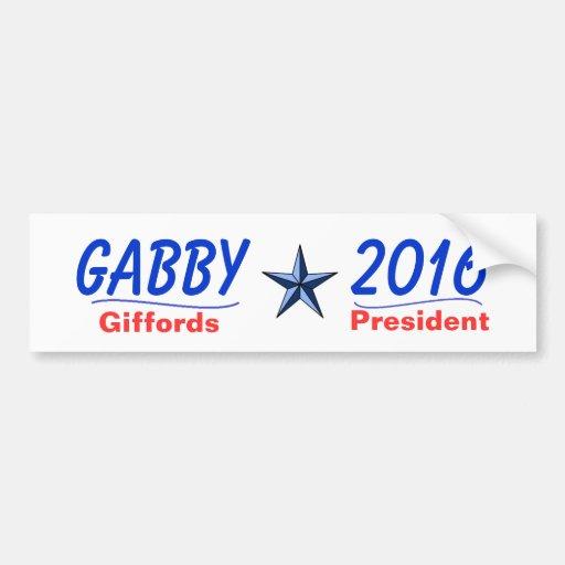 Gabby For Pres 2016 Car Bumper Sticker