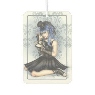 Gabby Gothic Girl Character Art Illustration Air Freshener