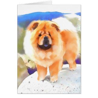 """""""GABBY"""" heARTdog Chow Art Card"""