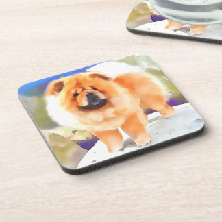 GABBY heARTdog chow Drink Coaster