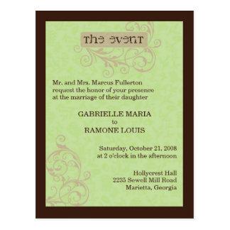 Gabby Invitation Postcard