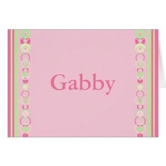 Gabby Modern Circles Name Card - 369