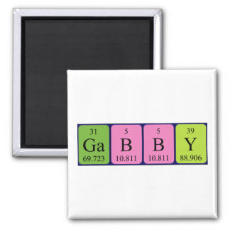 Gabby periodic table name magnet