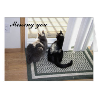 Gabe & Buster - Missing You (customizable) Card