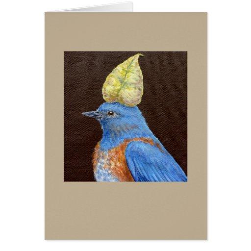 Gabe la tarjeta occidental del bluebird
