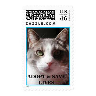 """Gabe says: """"ADOPT & SAVE LIVES"""" ! Stamps"""