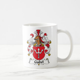 Gabel Family Crest Classic White Coffee Mug
