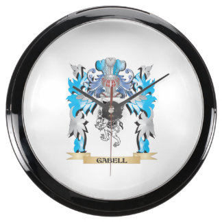 Gabell Coat of Arms - Family Crest Fish Tank Clocks