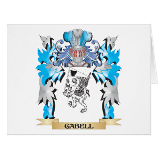 Gabell Coat of Arms - Family Crest Large Greeting Card