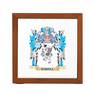 Gabell Coat of Arms - Family Crest Desk Organizer