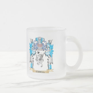 Gabell Coat of Arms - Family Crest 10 Oz Frosted Glass Coffee Mug