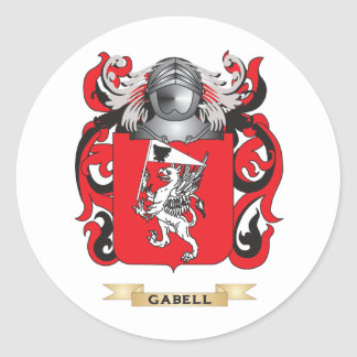 Gabell Coat of Arms (Family Crest) Classic Round Sticker