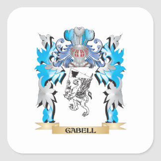 Gabell Coat of Arms - Family Crest Square Sticker