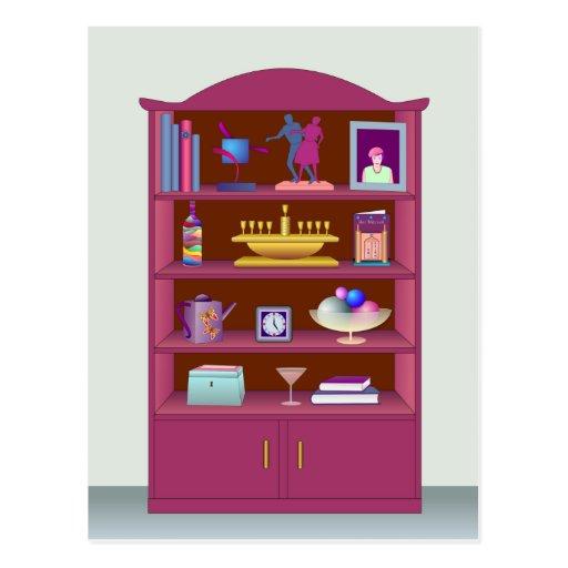 Gabinete de exhibición postales