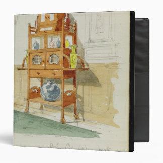 """Gabinete de la exposición, c.1860s-70s (w/c y carpeta 1 1/2"""""""