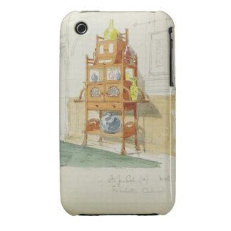 Gabinete de la exposición, c.1860s-70s (w/c y iPhone 3 Case-Mate carcasa