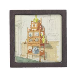 Gabinete de la exposición, c.1860s-70s (w/c y lápi cajas de recuerdo de calidad