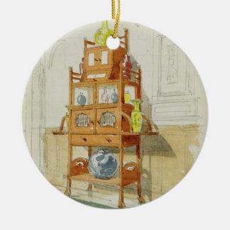 Gabinete de la exposición, c.1860s-70s (w/c y lápi adornos de navidad