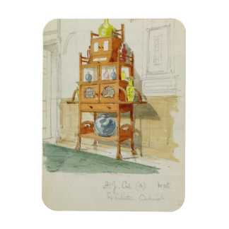 Gabinete de la exposición, c.1860s-70s (w/c y lápi imanes rectangulares