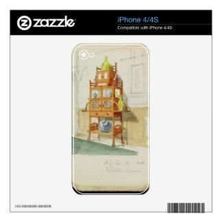 Gabinete de la exposición, c.1860s-70s (w/c y lápi iPhone 4S skin