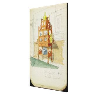 Gabinete de la exposición, c.1860s-70s (w/c y lápi lona envuelta para galerías