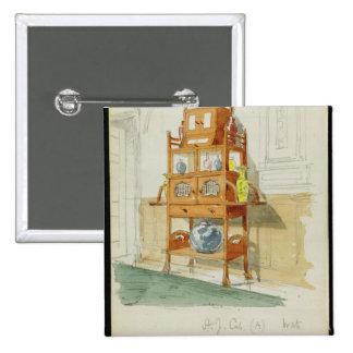Gabinete de la exposición, c.1860s-70s (w/c y lápi pin cuadrado