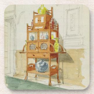 Gabinete de la exposición, c.1860s-70s (w/c y lápi posavasos de bebida