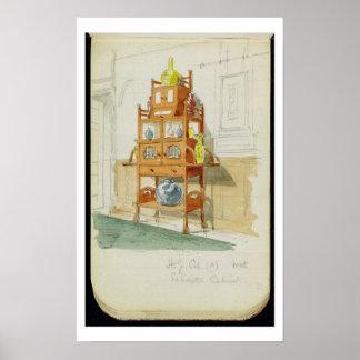 Gabinete de la exposición, c.1860s-70s (w/c y lápi póster