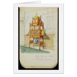 Gabinete de la exposición, c.1860s-70s (w/c y lápi tarjeta de felicitación