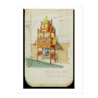Gabinete de la exposición, c.1860s-70s (w/c y tarjeta postal