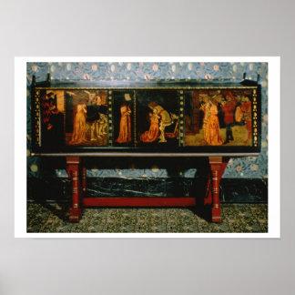 Gabinete de San Jorge, 1861 (roble con los paneles Poster