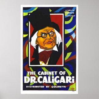 Gabinete del cartel de película del Dr. Caligari Póster