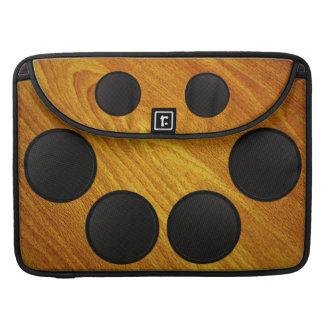 Gabinete del portavoz de madera del grano funda para macbooks