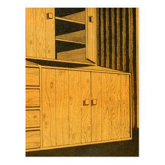 Gabinetes retros de la madera contrachapada de los tarjetas postales