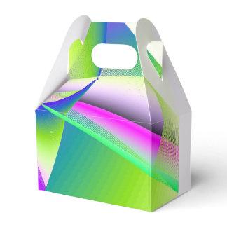Gable Rainbow Wedding Rainbow Splash Favor Box