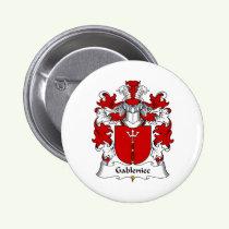 Gableniec Family Crest Button