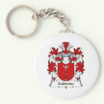 Gableniec Family Crest Keychain