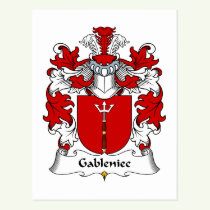 Gableniec Family Crest Postcard