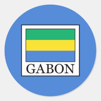Gabon Classic Round Sticker