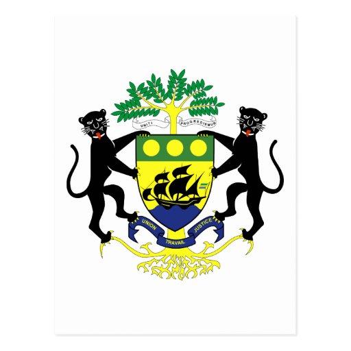 gabon emblem postcard