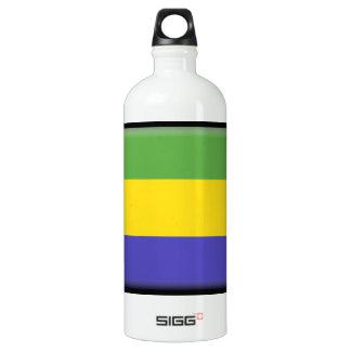 Gabon Flag Aluminum Water Bottle