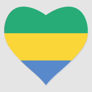 Libreville gabon stickers zazzle gabon flag ga gabonese republic heart sticker sciox Gallery