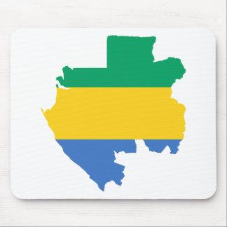 Gabon Flag Map GA Mouse Pad
