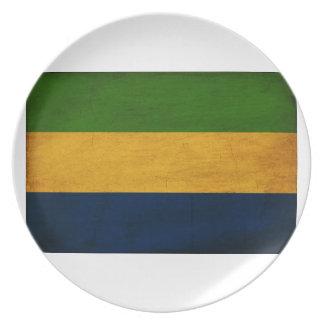 Gabon Flag Party Plate