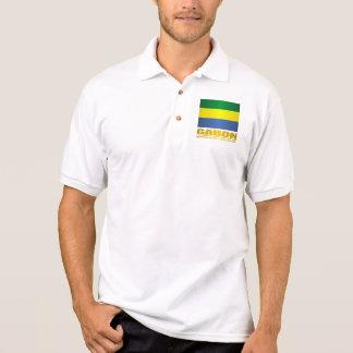 Gabon Flag Polo Shirt