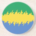 Gabon Gnarly Flag Beverage Coasters