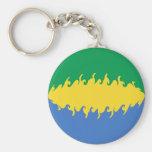 Gabon Gnarly Flag Keychain